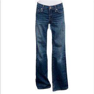 Vigoss Dark Wash Embroidered Pocket Bootcut Jeans